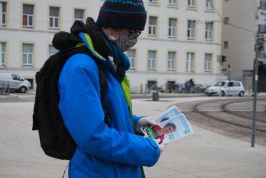 Démissions à Cap21 et à l'AEI suite à l'accord avec le PS. Début de la campagne des militants écologistes à Grenoble le 5 février - © Sarah Krakovitch – Place Gre'net
