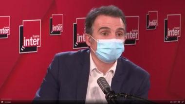 """""""Policiers délinquants"""": les syndicats atterrés par Éric Piolle. Éric Piolle lors de son interview sur France Inter ce 3 février 2021. Copie d'écran"""
