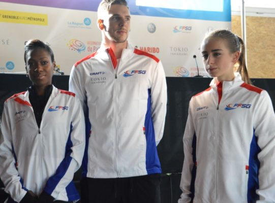 Vanessa James, Morgan Ciprès et Léa Serna patinage
