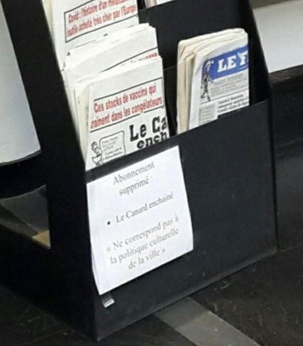 L'affichette de la discorde a depuis été remplacée. DR