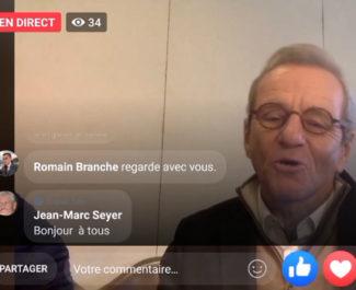 """Thé ou café, le """"live"""" Facebook d'Alain Carignon. Copie d'écran"""