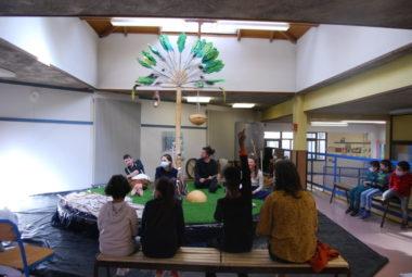La Compagne des Apatrides est en résidence pour trois semaines à l'école des Genêts à la Villeneuve. © Sarah Krakovitch – Place Gre'net