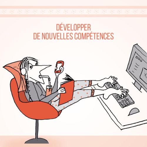 """""""Développer de nouvelles compétences"""" avec le confinement. Signé Justine Dupré © Centre du graphisme d'Échirolles - Justine Dupré"""