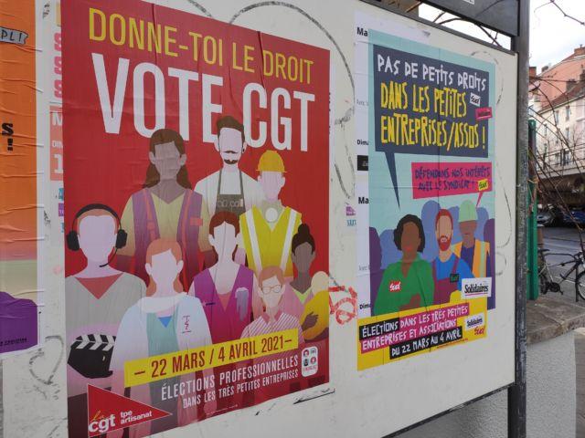 Objectif des syndicats: convaincre les salariés des TPE de voter... et si possible pour eux. © Florent Mathieu - Place Gre'net
