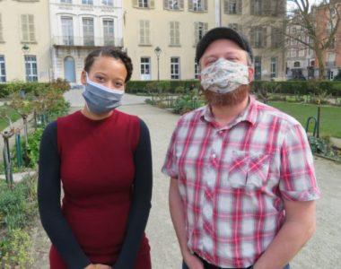 Maude Wadelec et Antoine Back élus à la Ville de Grenoble en charge de la biennale. © Tim Buisson – Place Gre'net