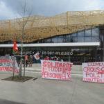 Grève des salariés du Crous Grenoble-Apes lundi 22 janvier. © Tim Buisson – Place Gre'net
