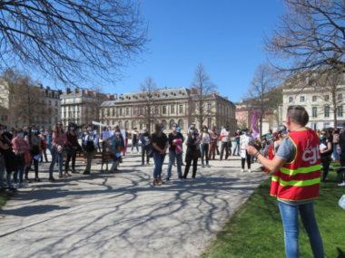 Manifestation contre la réforme Taquet à Grenoble le mardi 30 mars 2021. © Tim Buisson – Place Gre'net