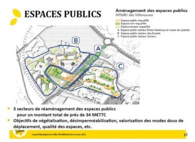 Aménagement des espaces publics des Villeneuves dans le cadre du plan de rénovation urbain GrandAlpe. © Capture d'écran.