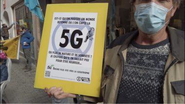 Extinction Rébellion dénonce le déploiement de la 5G © Joël Kermabon - Place Gre'net