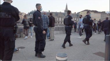 Grenoble : un rassemblement dispersé sur les quais. La police est intervenue peu avant le couvre-feu. ©Joël Kermabon - Place Gre'net