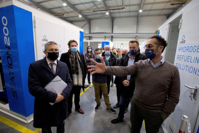 Les élus ont visité l'entreprise HRS vendredi 19 mars et réaffirmé leur soutien à la filière hydrogène © Guillaume Rossetti - Grenoble Alpes Métropole