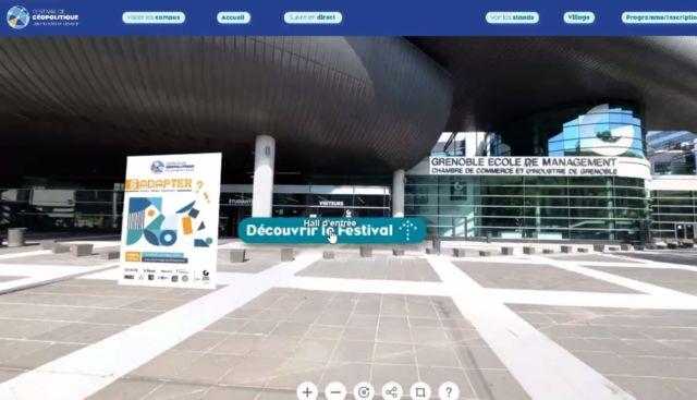 Le Festival de géopolitique 2021 de Gem propose une plateforme immersive et interactive (ici présentée en version beta).