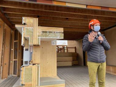 Jacques Félix-Faure, architecte d'ASP Architecture en charge du projet Haut-Bois, 5 mars 2021. © Sarah Krakovitch – Place Gre'net