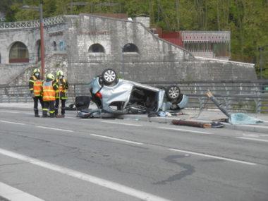 Accident Pont de Chartreuse à Grenoble, le 18 avril 2021. ©Antoine Girardier - Placegre.net