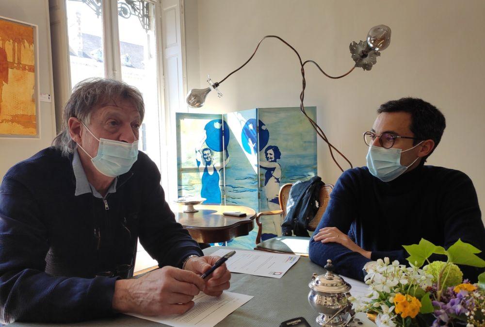 Christian Hoffmann, président de Label Ville, et Thomas Bonzy, du cabinet Bastille Avocats © Florent Mathieu - Place Gre'net