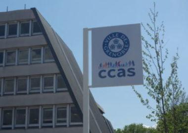 Panneau logos CCAS et Ville de Grenoble