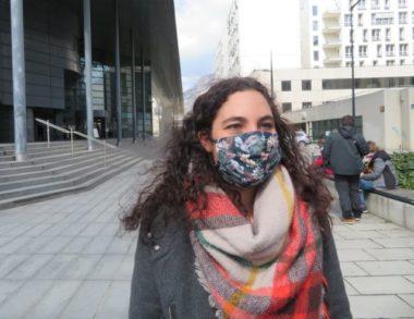 Elsa Ghanassia, avocate de trois des prévenus. © Tim Buisson – Place Gre'net