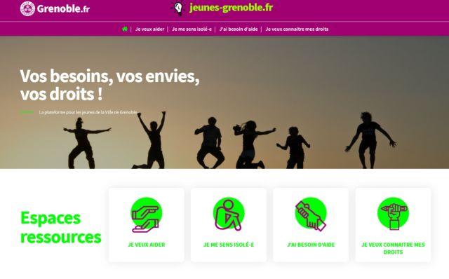La plateforme Jeunes Grenoble est encore en version bêta © Ville de Grenoble