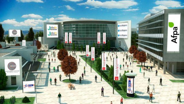 Visuel de Jobs In Grenoble, premier salon de l'emploi et de la formation 100 % virtuel pour l'agglomération Grenoble © Digit'All Events