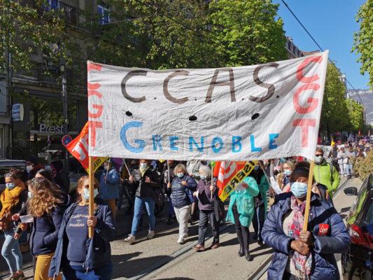 Travailleurs sociaux, culturels, étudiants… même combat © Joël Kermabon - Place Gre'net