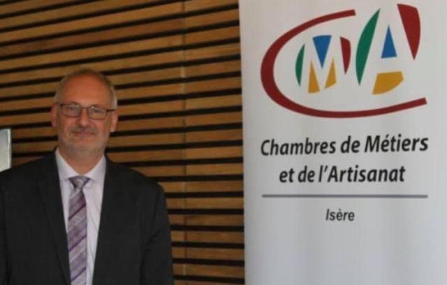 Philippe Tiersen, président de la Chambre des Métiers et de l'Artisanat de l'Isère, est décédé de la Covid-19 à l'âge de 61 ans. DR