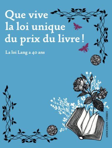 L'ouvrage Que vive la loi unique du prix du livre © Gallimard - association Verbes