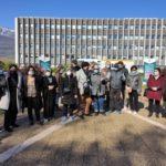 Rassemblement de salariées d'Elior devant le centre des Finances publiques de Grenoble