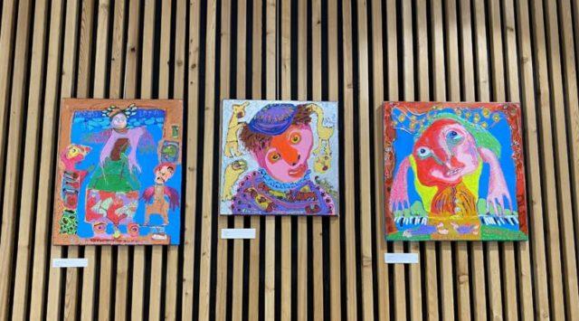 Au centre, le portrait de Soutine, artiste russe que Yannick Leider admire. © Sarah Krakovitch - Place Gre'net