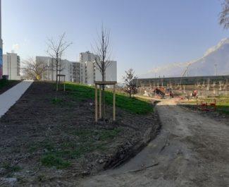 """Les travaux de """"transformation"""" du parc et de l'école Vallier de Grenoble ont débuté"""