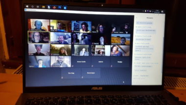 Les membres de l'association en réunion via Zoom. Photo DR
