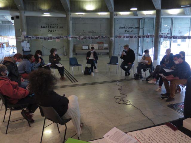 Le mouvement cultures essentielles en lutte a organisé, mercredi 19 mai, une conférence de presse à la MC2. Photo DR