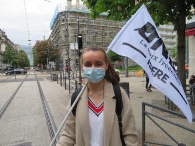 Clémence Lourdeaux secrétaire fédérale pour l'UNL Isère. © Tim Buisson – Place Gre'net