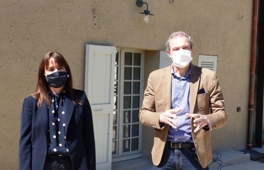 Aymeric Perroy aux côtés de la première vice-présidente du Département de l'Isère Sandrine Martin-Grand © Florent Mathieu - Place Gre'net