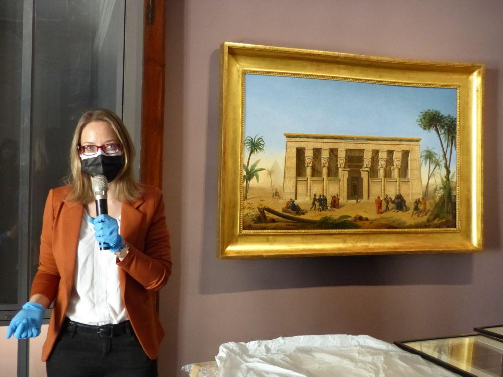 Caroline Dugand, conservatrice du musée Champollion © Florent Mathieu - Place Gre'net
