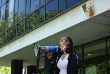 Albane, élève au LGM, mobilisée contre la répression des lycéens