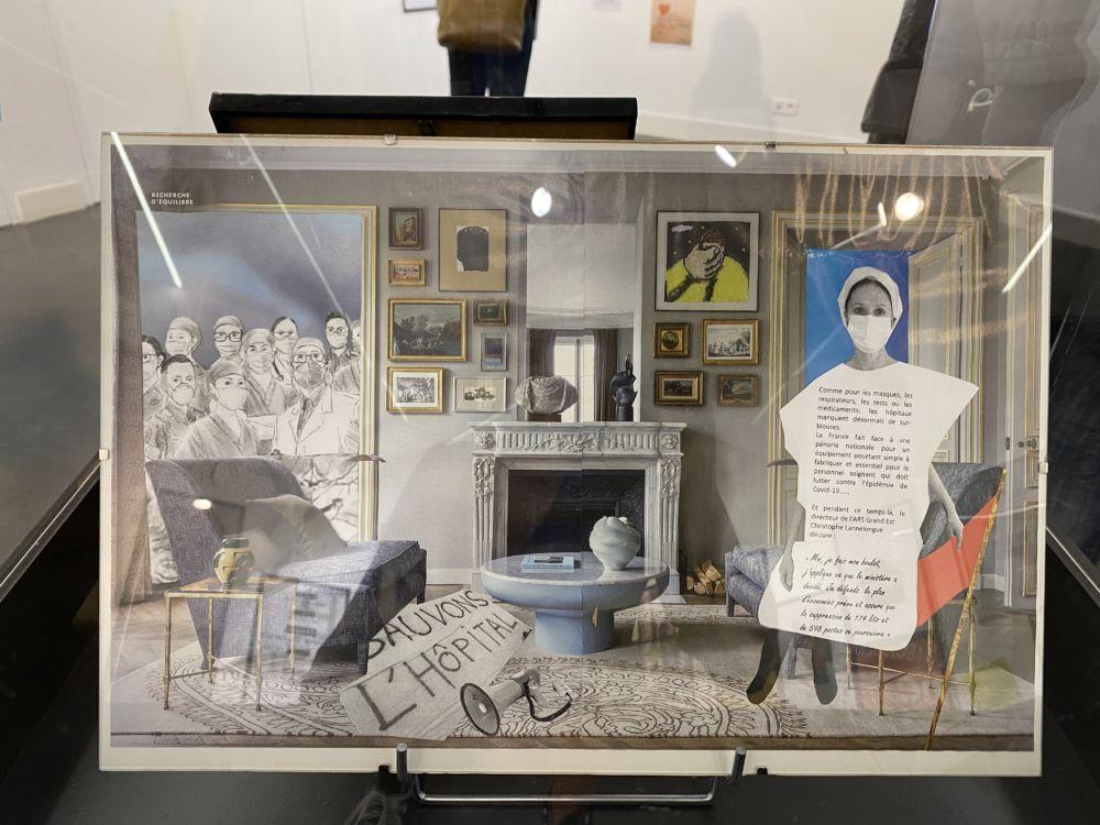 L'art déconfiné, des confiné(e)s : une expo participative sur la pandémie  Collages de Patricia Ospelt © Sarah Krakovitch - Place Gre'net