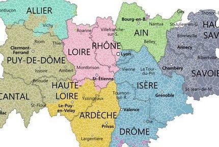 """La région Auvergne-Rhône-Alpes """"en tête des PIB de province"""", révèle une étude de l'Insee"""