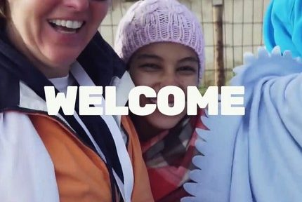 """Grenoble participe à la campagne en faveur d'un accueil digne des migrants """"A welcoming Europe"""""""