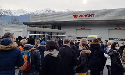 COUV Mobilisation des salariés de Tornier-Wright, février 2021. DR