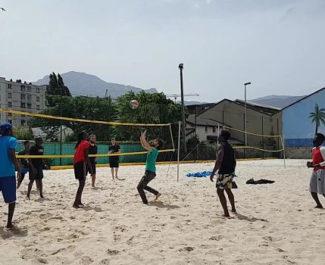 COUV Beach volley au Pass'sport festival, dans le cadre de la Semaine des réfugiés, dimanche 20 juin 2021. © Séverine Cattiaux - Place Gre'net