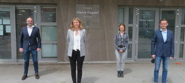 De gauche à droite : Arnaud Beaumont, Elodie Jacquier-Laforge, Delphine Bense et Jocelyn Rozand. © Tim Buisson – Place Gre'net