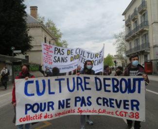 Manifestation contre la réforme de l'Assurance-Chômage samedi 10 avril 2021. © Tim Buisson – Place Gre'net