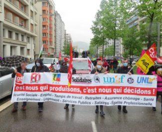 1er mai 2021 à Grenoble. © Tim Buisson – Place Gre'net