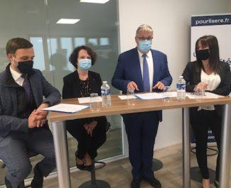En Isère, le président sortant du Département, candidat à sa réelection, met sur la table dix premières propositions chiffrées.