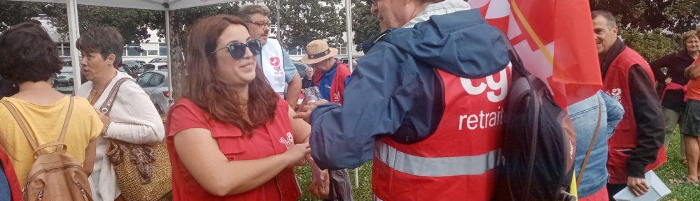 Rassemblement CGT devant l'Hôpital Sud de Grenoble pour réclamer des investissements pour le site