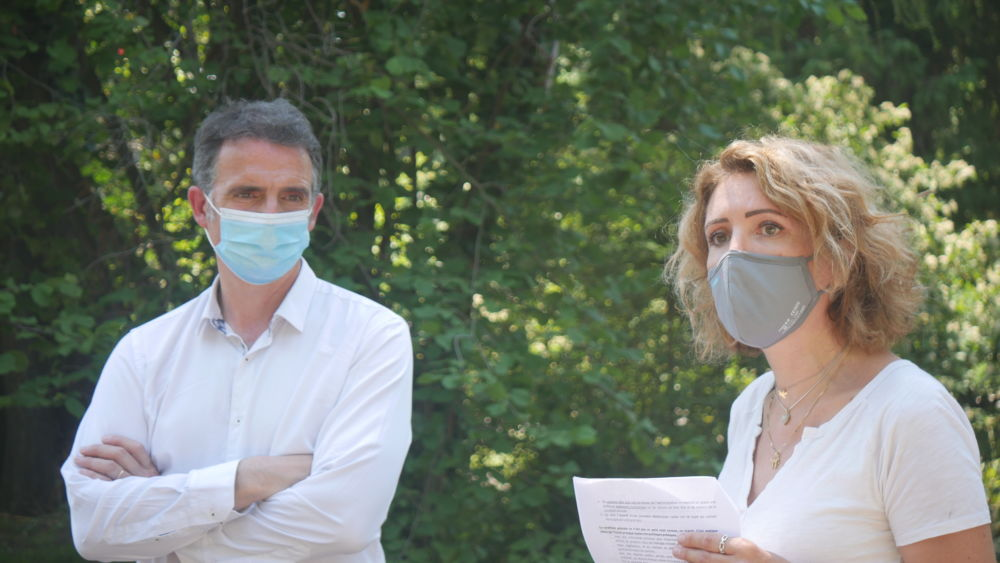 Eric Piolle et Sandra Krief