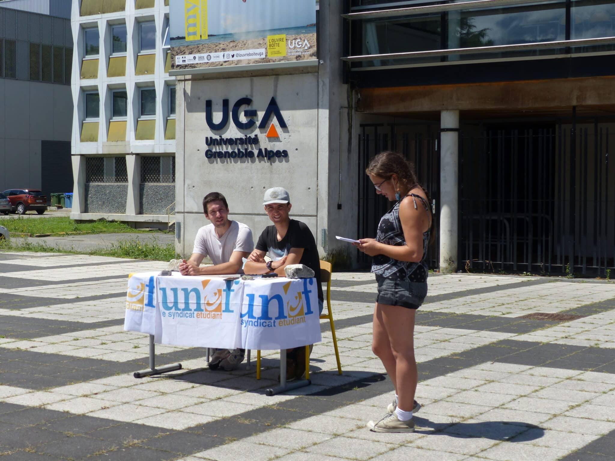 Sélection à l'université : mobilisation de l'Unef de Grenoble
