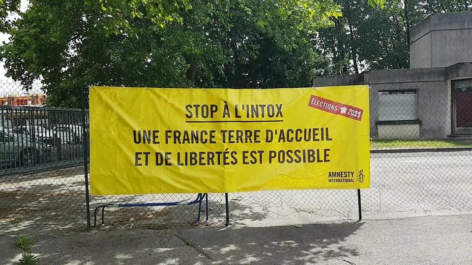 Amnesty International au Pass'sport festival, dans le cadre de la Semaine des réfugiés, dimanche 20 juin 2021. © Séverine Cattiaux - Place Gre'net