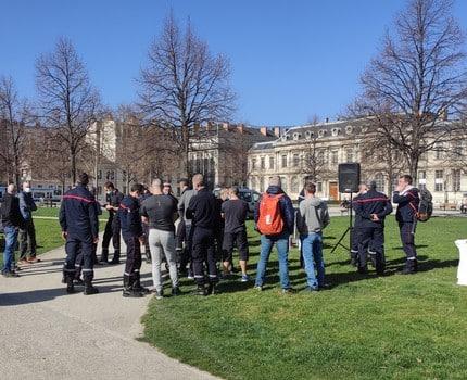 Les pompiers de l'Isère rendent hommage à Cyrille Minard et portent ses revendications