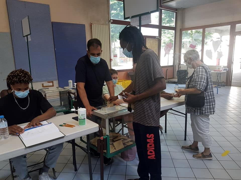 Bureau de vote Capuche à Grenoble, dimanche 27 juin 2021 © Séverine Cattiaux - Place Gre'net